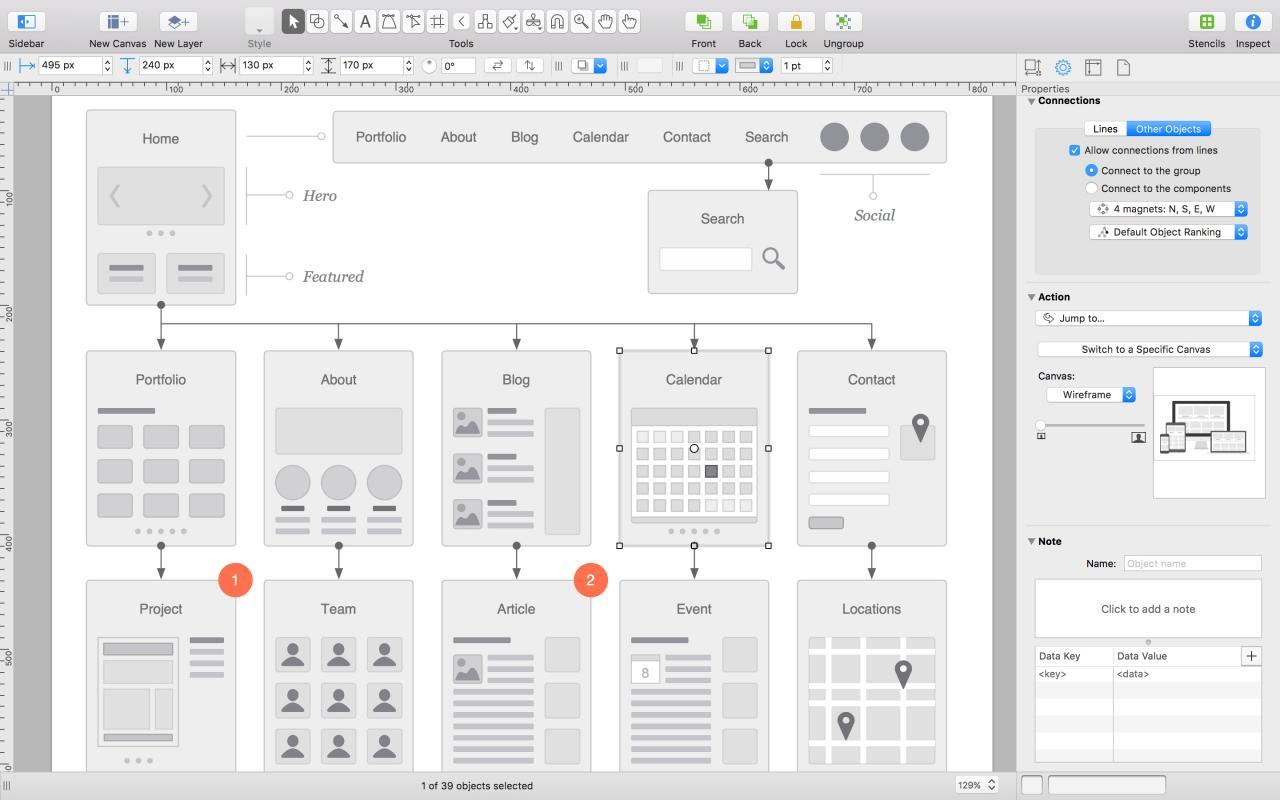 OmniGraffle Pro v7.9.4 for mac 完美激活破解版-mac上最著名的绘图软件