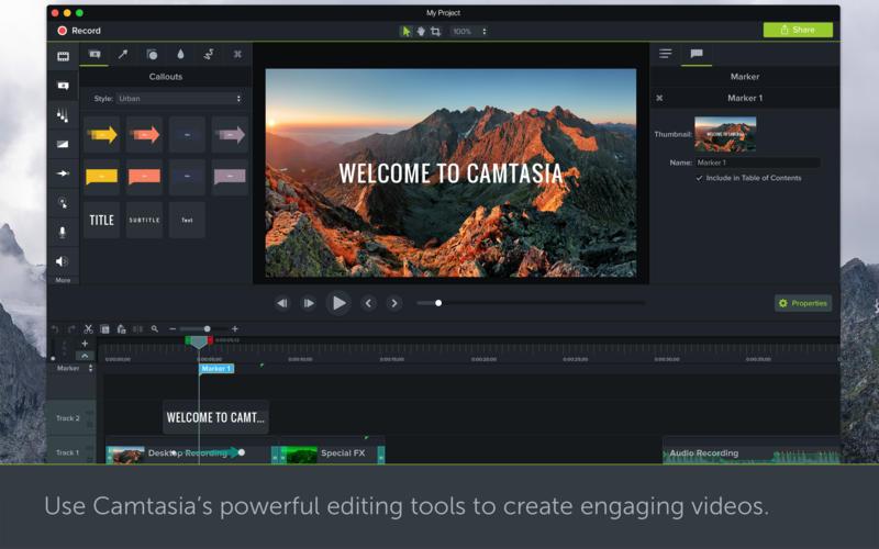 TechSmith Camtasia 2018.0.8 for mac破解版 Mac上强大的屏幕录像工具