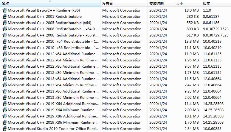 VC2005,VC2008,VC2010,VC2012,VC2015,VC2017,V2019,SystemRedist,MSVCVB,Visual C++ Redist运行库,VC++运行库合集包,微软运行库和游戏支持库,Microsoft Visual C ++运行库合集包,微软系统运行库集合,微软系统运行库文件,Visual C++运行库合集,VC++运行库组件,VC运行库组件,VC运行库合集,VC++运行库合集,VWindows微软常用运行库合集,微软运行库大全,微软运行库合集,VC++运行库,系统必备组件,游戏运行库,软件库文件,软件运行库,所有运行库大全,所有软件库文件,所有VC库,VC++库,vc运行库,VB/VC库文件,微软基础类型库文件VisualCppRedist AIO